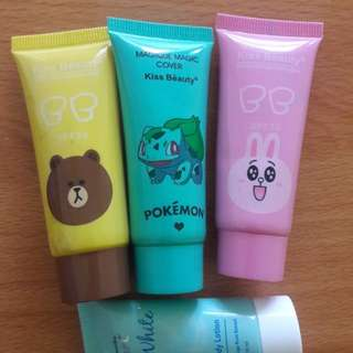 Preloved BB Cream Kiss Beauty Karakter Line ( HARGA SATUAN)