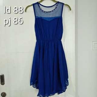 Dress biru electric