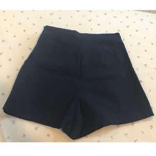 〔全新、現貨〕韓系深藍色褲裙