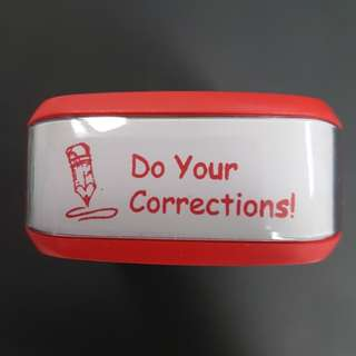 Teacher Stamp: Do Your Corrections!