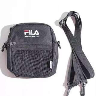 "INSTOCKS Black ""FILA"" Small Shoulder Bag"