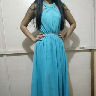 Baby blue long gown