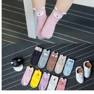 InStock - High Quality Premium Cotton Designed Anti Slip Socks - 0 to 5 yrs - Boy or Girl Set - $2.5 per pair or A set of 5 for $10 (Promotion Price)