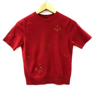 Shiatzy Chen red with emborderies tee top size F38