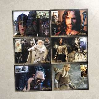 Lord of the Rings: Return of the King set 6 Postcards Stamps New Zealand Post- Rare Collectible!