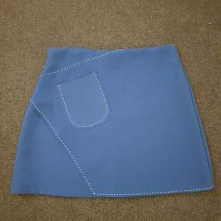 Periwinkle A-line skirt from Korea