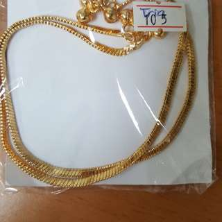 Gold Plated Anklet