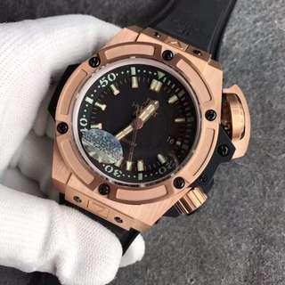 環亞  恆寶 Hublot 4000m 大隻 48mm 玫瑰金 diver V6工廠 新版 面交 男錶