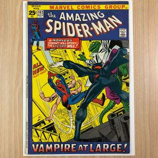 MARVEL COMICS The Amazing Spider-Man #102-Origin & 2nd Appearance of Morbius (Serious Buyers Only)