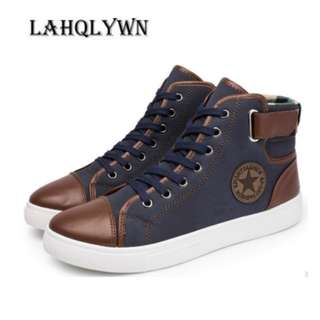 Lace-Up Leather Ankle Boots for Men - Item No. SH-0009