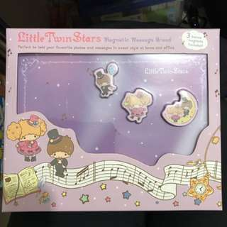全新Little Twin Star Magnetic Message Broad 雙子星磁石留言板