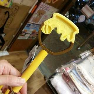 原裝日本 Winnie the pooh 小熊維尼 公仔頭 透明傘 透明遮 直遮 直傘 Umbrella 雨傘 雨遮