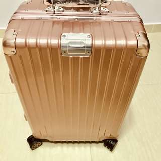 """Unique and Stylish 20"""" Rose Gold Travel Luggage Cabin Size Hand Carry, Light weight, Small, Cute"""