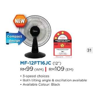 Midea Table Fan MF-12FT16JC