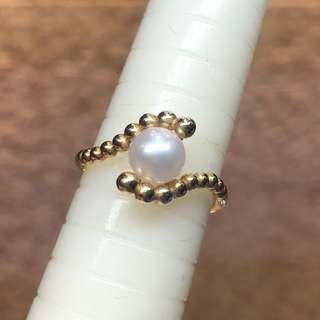 18kt akoya pearl ring