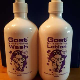 Argan Oil Goatsmilk Wash & Lotion