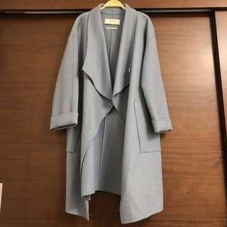 ZARA•水藍手工羊毛大衣