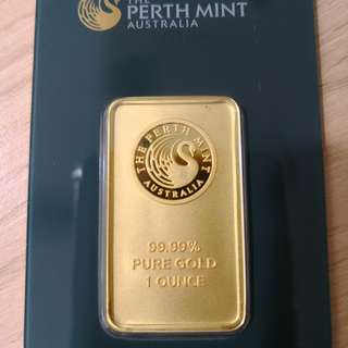 Perth Mint 1Oz Gold Bar