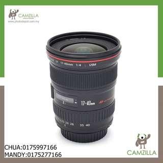 (USED)CANON LENS EF 17-40mm 1:4 L USM