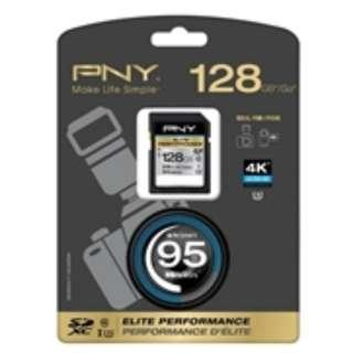 PNY 128GB SDXC 4K Ultra (29hr HD video ; 95 MB/s*)