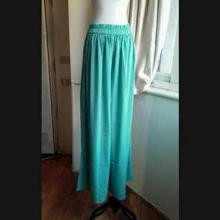iROO 亮色 超寬鬆輕薄及地寬褲