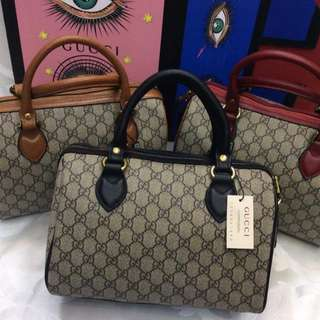 Gucci Signature Top Handle Boston Bag