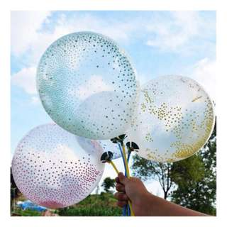 NEW TRANSPARENT MAGIC BALLOONS WITH CONFETTI BALLS