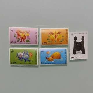 香港郵票 HONG KONG STAMP 全部共HKD $9.00