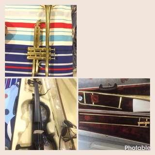 E violin,Trumpet,Trombone