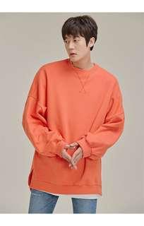0128 Uneven Hem Sweatshirt