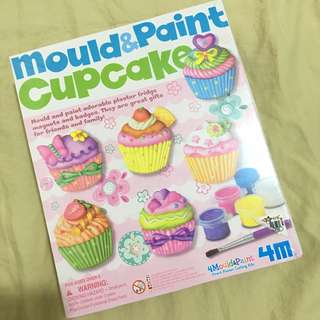 BN sealed with box mould and paint cupcake