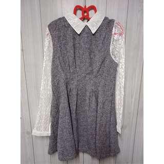 蕾絲袖 氣質洋裝