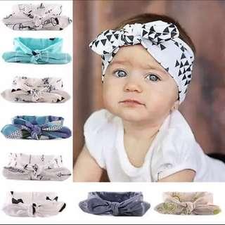 Bebe Baby Girl Headband Bow Scarf