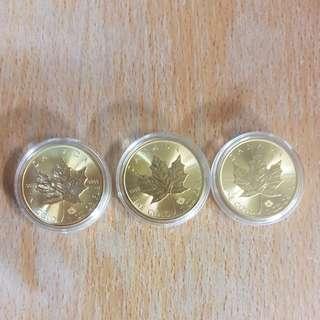 1oz 9999 pure gold maple