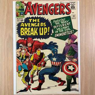 MARVEL COMICS The Avengers #10 (2nd copy)-1st Appearance of Immortus|Captain America pin-up (Serious Buyers Only)