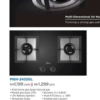 Midea 2 Burner Glass Hob
