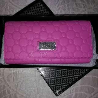 Oroton Classic Pink Clutch/Purse New in Box