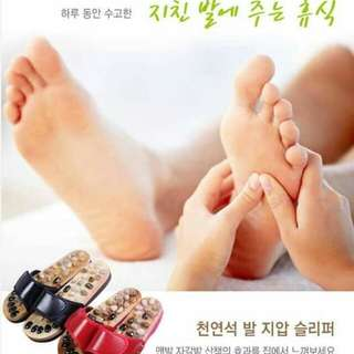 🚚 韓國超夯健康指壓鵝卵石足底按摩拖鞋