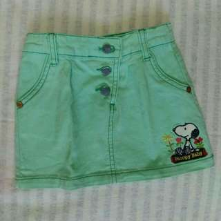 Preloved Rok anak Snoopy sz 1-2y