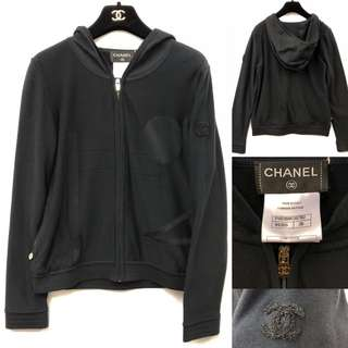 Chanel dark blue navy cardigan size 38