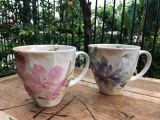 Japan floral mugs