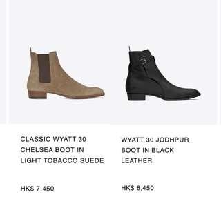 七折 saint laurent boots size 43