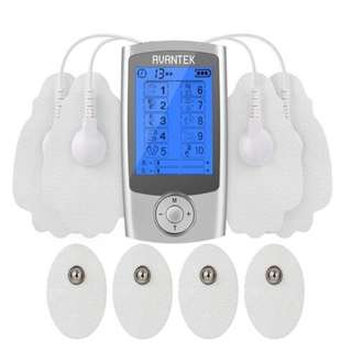AVANTEK Two Independent Channels Re-chargeable TENS Massager EMS Machine, Mini Electronic Pulse Stimulator with 10 Therapy Modes, 8 Electrode Pads and 20 Levels of Intensity, FDA Cleared  -- 694
