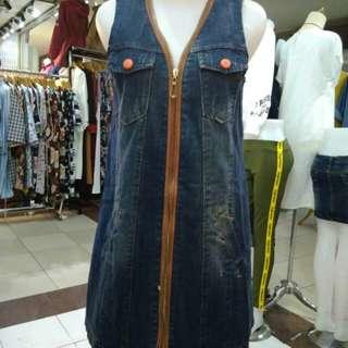 Mini dress jeans ori import