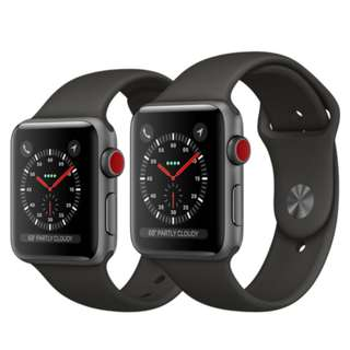 「收」「收」「收」全新 Apple Watch series 3 cellular 42mm