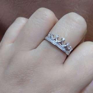 18K whitegold Crown ring