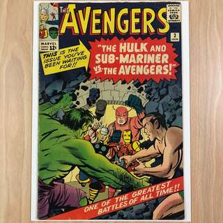 MARVEL COMICS The Avengers #3-1st Hulk & Sub-Mariner Team Up (Serious Buyers Only)