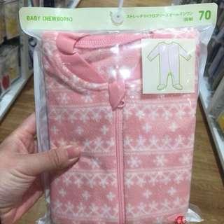 全新Uniqlo粉色雪花包腳衣