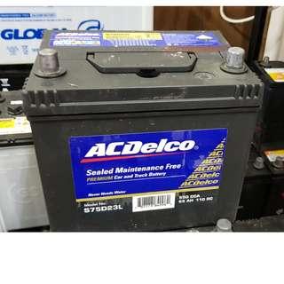 (二手中古電池) AC德科 75D23L-免保養汽車電池 數值漂亮,品項優