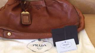 PRADA BUTTERY LEATHER TOTE